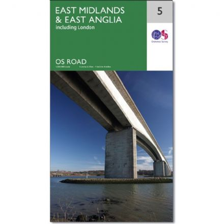 Ordnance Survey Road Map 5 - East Midlands & East Anglia